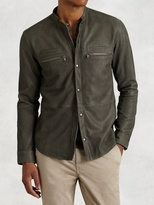 John Varvatos Goat Suede Double Zip Jacket