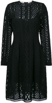Ermanno Scervino long sleeved sheer dress