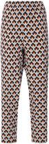 Marni Portrait print trousers - women - Silk - 38
