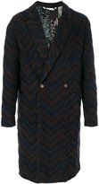 Etro double breasted mohair coat - men - Polyamide/Spandex/Elastane/Cupro/Wool - 48