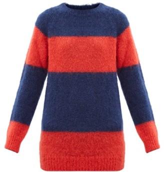 Molly Goddard Noah Striped Mohair-blend Sweater - Navy Multi