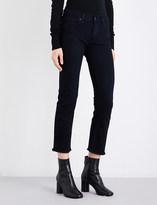 Nili Lotan Frayed-hem boyfriend mid-rise jeans
