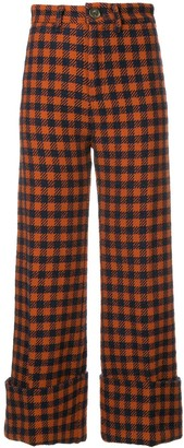 Sea Pareo Checked Trousers