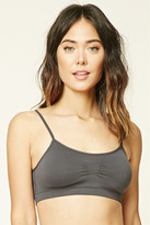 Forever 21 FOREVER 21+ Ruched-Front Seamless Bralette