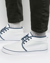 Asos Chukka Sneakers In White