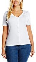 Sheego Women's Short Sleeve Cardigan - White -