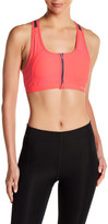 Columbia Zip Front Solid Sports Bra