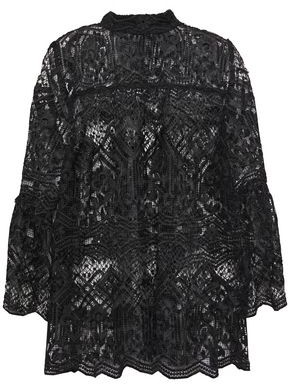 Anna Sui Fluted Macrame Lace Blouse