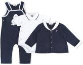 Armani Junior penguin print gift set - kids - Cotton - 6 mth