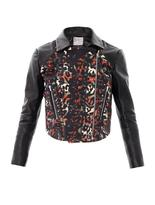 Preen By Thornton Bregazzi Lyric wool-panel leather jacket