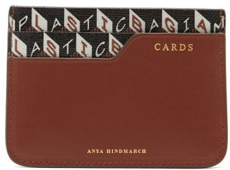 Anya Hindmarch I Am A Plastic Bag Recycled-canvas Cardholder - Tan Multi