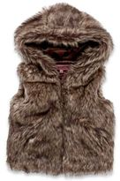 Urban Republic Faux Fur Hooded Vest in Brown