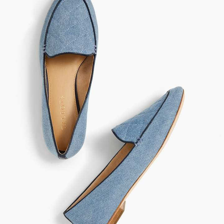 Talbots Ryan Loafers - Quilted Denim
