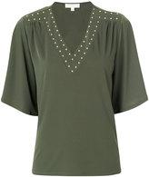 MICHAEL Michael Kors stud embellished T-shirt - women - Polyester/Spandex/Elastane - S