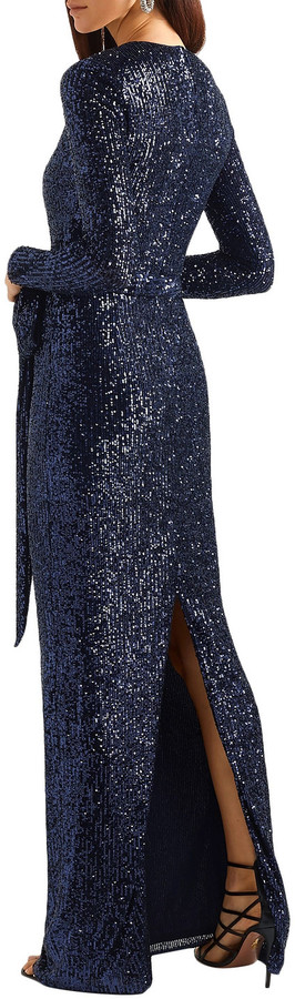 Thumbnail for your product : Naeem Khan Belted Sequined Tulle Gown