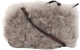 Brunello Cucinelli Shearling Crossbody Leather Pouch