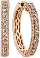 LeVian Le Vian Diamond Diamond Channel Hoop Earrings (1/2 ct. t.w.) in 14k Rose Gold