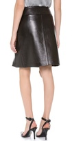 Alexander Wang Pleat Front Leather Skirt