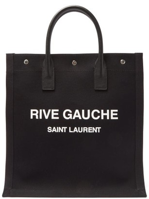 Saint Laurent Noe Logo-print Canvas Tote Bag - Black Multi