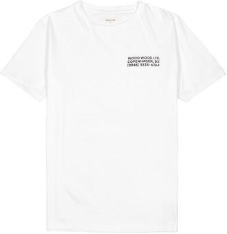 Wood Wood Info white cotton T-shirt