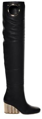 Salvatore Ferragamo Slouchy Leather Boots