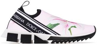 Dolce & Gabbana Sorrento lily print sneakers