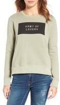 Sundry Women's Army Of Lovers Side Zip Sweatshirt