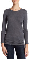 Susina Long Sleeve Crew Neck Tee (Petite)