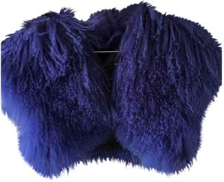 Jay Ahr Blue Mongolian Lamb Jackets