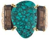 Bounkit Turquoise & Smoky Quartz Cuff Bracelet