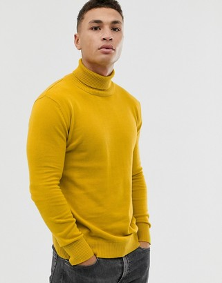 NATIVE YOUTH knitted roll neck-Yellow