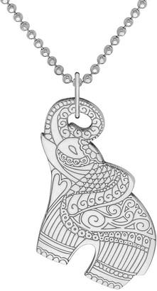 Cartergore Small Silver Elephant Pendant Necklace