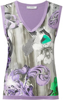 Versace floral print vest - women - Silk/Cotton - 40