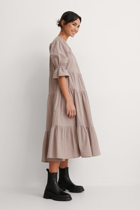 NA-KD Gather Panel Detail Dress