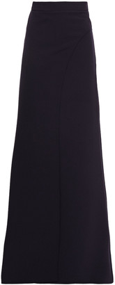 Safiyaa Wrap-effect Stretch-crepe Wide-leg Pants