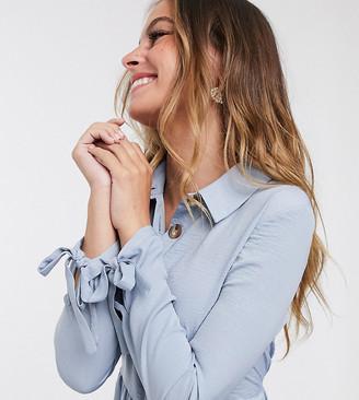 Miss Selfridge Petite shirt dress in powder blue