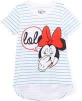 Freeze Minnie Mouse White 'Lol' Hi-Low Tee - Girls