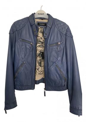 Oakwood Blue Leather Jackets