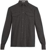 Bottega Veneta Windowpane-checked Brushed-cotton Shirt