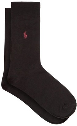 Polo Ralph Lauren Pack Of Two Logo-embroidered Socks - Mens - Black