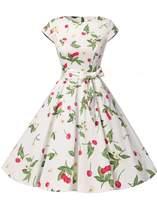 Dressystar DS1956 Women Vintage 1950s Retro Rockabilly Prom Dresses Cap-sleeve M