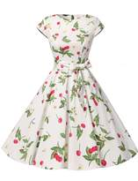 Dressystar Vintage 1950s Polka Dot and Solid Color Prom Dresses Cap-sleeve XXL