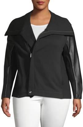 Vigoss Plus Ribbed Edge Moto Jacket