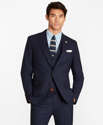 Brooks Brothers Regent Fit Check Three-Piece 1818 Suit