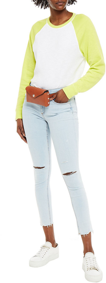 Thumbnail for your product : Rag & Bone Cate Cropped Distressed Mid-rise Skinny Jeans