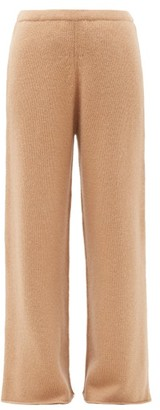 Raey Wide-leg Knitted Cashmere Trousers - Womens - Beige