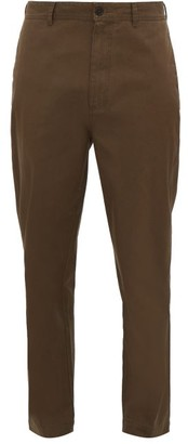 Raey Tapered Cotton Chino Trousers - Brown