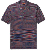 Missoni Slim-fit Space-dyed Cotton-jersey Polo Shirt - Purple
