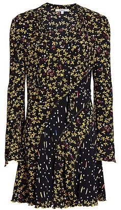 Derek Lam 10 Crosby Cati Mixed Floral Shift Dress