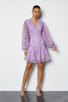 Cutwork Lace Long Sleeve Dress